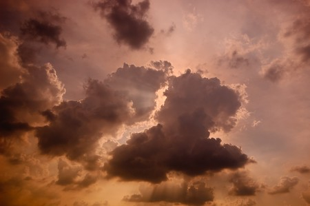 clouding: The sun on clouding sky. Stock Photo