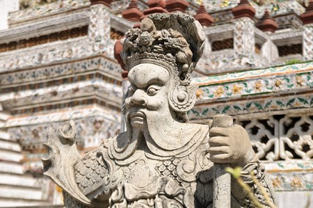 A guardian statue at Wat Arun (Temple of Dawn), Bangkok Thailand. Stock Photo - 7272342