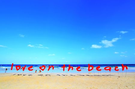 Love on the beach photo