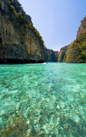 Emerald lagoon at Phi-Phi Island Phuket, Thailand Stock Photo - 7407805