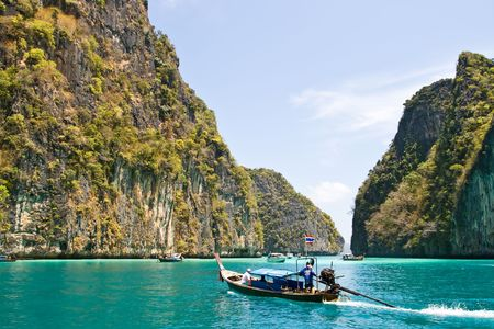 Emerald lagoon at Phi-Phi Island Phuket, Thailand Stock Photo - 7407804