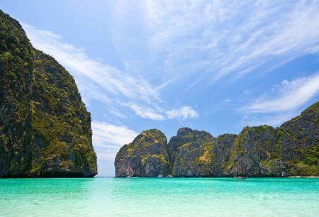 pp: Nobody in Maya Bay Phi-Phi Island Phuket Thailand