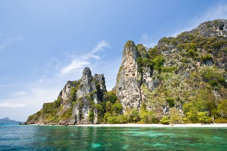 Snokling Point at Phi-Phi Island Phuket Andaman Thailand Stock Photo - 7407801