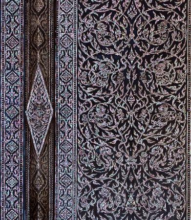 Beautiful Decorate door at Wat Phra Keao, Grand Palace Thailand Stock Photo - 7467016