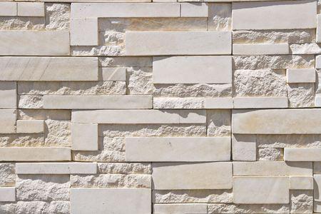 White Modern Brick Wall photo
