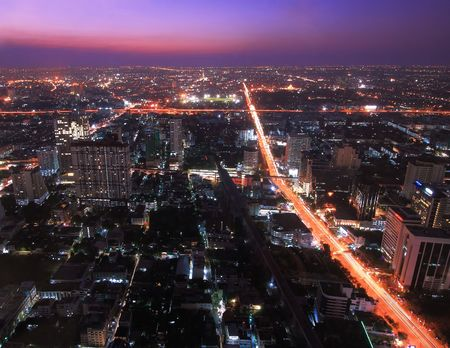 Crossing of Highway and Expresswayt Road in Bangkok photo