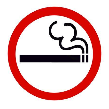 Symbol of Smoking Zone Sign isolated on White Stock Photo - 7553875