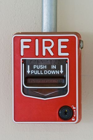 Fire alarm switcher front view Perspective photo