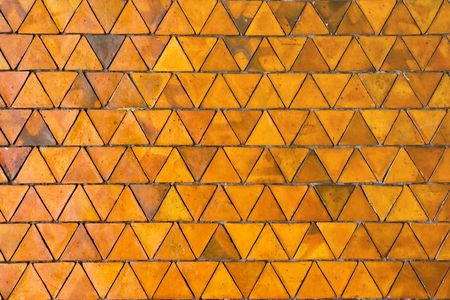 Pattern of Triangle Red Stone pavement, background photo