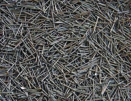 Pattern of Silver Steel Nails Stock Photo - 7601484