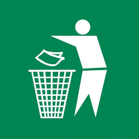 rubbish bin: Keep Clean and Litter bin Sign, symbol