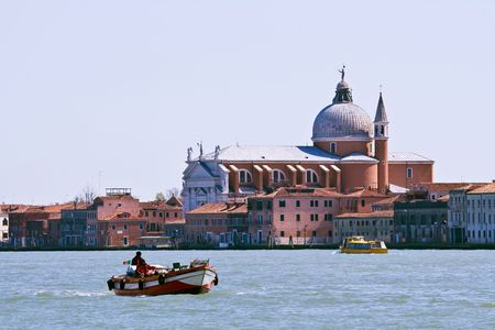 Church at Grand canel in Venice, Italy photo
