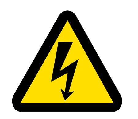 Sign of Danger High Voltager Symbol isolated on White Stock Photo - 7629559