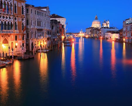 Santa Maria Della Salute, Church of Health, Grand canel Venice Italy photo