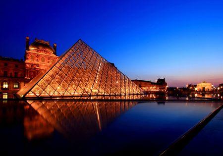 paris france: Paris France APR 16,2010  - Summer Exhibition at Louvre Museum