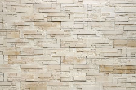 Pattern of White Modern Brick Wall Surfaced Stock Photo - 7770425