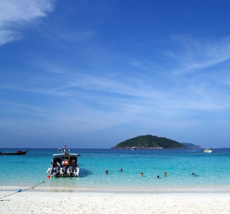 Similan Beach Island Number 4 ,Paradise island located at south of Thailand  Stock Photo - 7770456