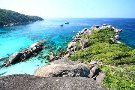 Panoramic of Coral view from the Sailing Rock, Similan National Park Thailand Stock Photo - 7770465