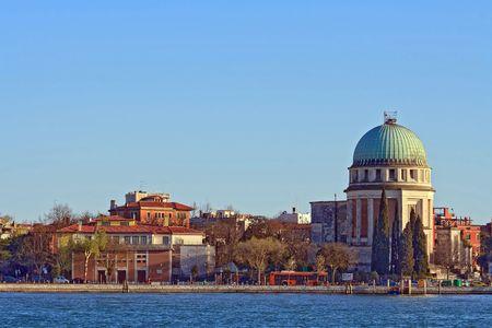 Church at Lido Beach island, Venice Italy photo