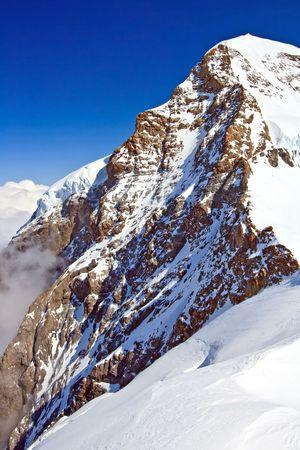 Part of The Swiss Alpine Alps at Jungfraujoch in Interlaken Switzerland, Vertical Stock Photo - 8089406
