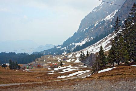 Landscape of Pilatus mountain in Lucern Switzerland photo