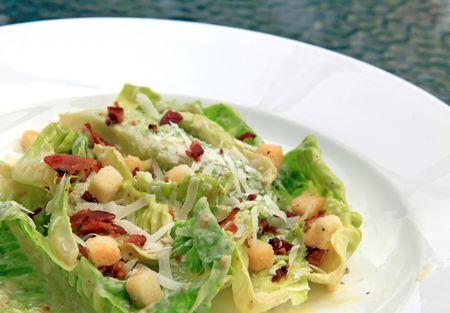 closeup of caesar salad photo