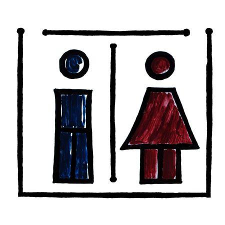 Italian Toilet Symbol photo