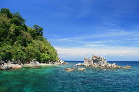 Snokeling Point at Tarutao Andaman Sea Thailand Stock Photo - 8089676
