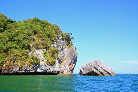 Snokeling Point at Andaman Sea Thailand Stock Photo - 8089707