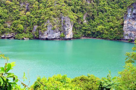 Emerald Laggon at Samui Island south of Thailand, Closeup Stock Photo - 8089704