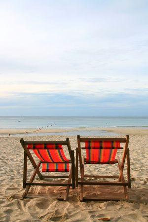 Beach Chair in Summer at Samui Island in Thailand Stock Photo - 8089754