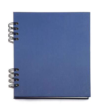 isolated deep blue notebook on white.  photo