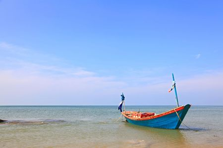 Long Tail Boat on the beach, Thailand Stock Photo - 8089786