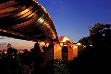 Singapore henderson wave bridge shine at dusk photo