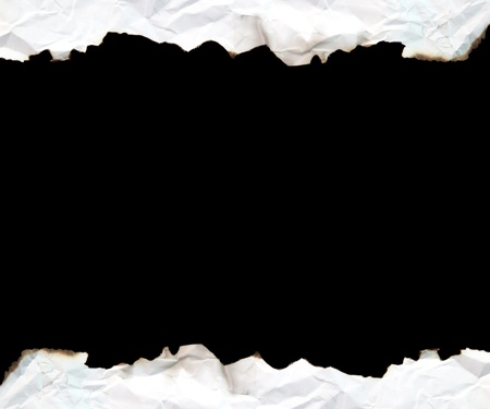 burnt edge paper with space for text on black background Stock Photo - 8336065