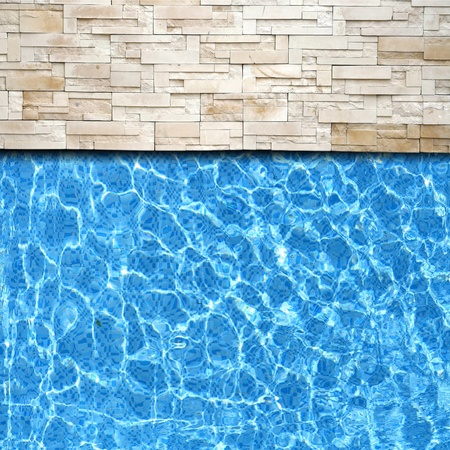 Refection of Blue water in Swimming pool with Ripple photo
