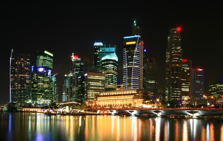 commercial district: cityscape of skyscraper in Singapore business district