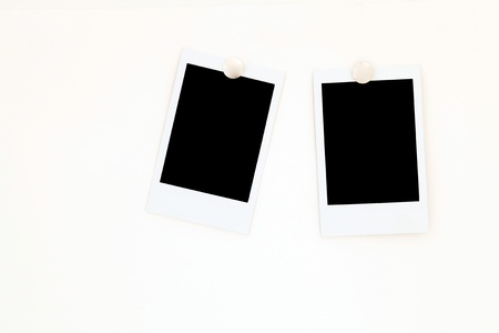 isolated two blank polaroids frames Stock Photo - 8380615