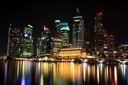 landscape of skyscraper in Singapore business district Stock Photo - 8380698