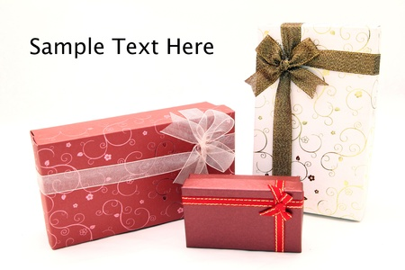 set of holiday boxes with space for text photo