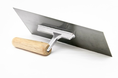 spatula: isolated of german style lute trowel over white background