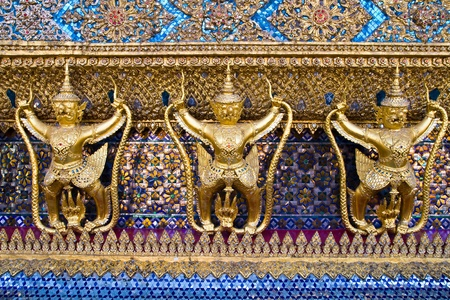 Golden Garuda at Wat Phra Keao Temple in Grand Palace, Bangkok Thailand photo