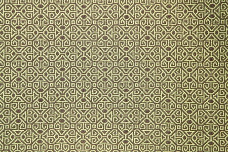 pattern of yellow tradition clothing wall paper panel, close up Stock Photo - 8837526