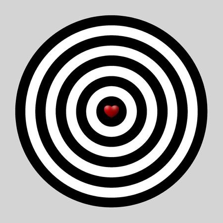 heart dart, target of love Stock Photo - 8849631