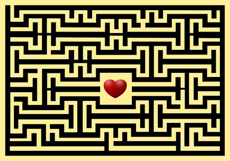 conceptual of love maze photo