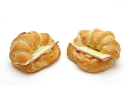 two Ham Cheese croissant photo
