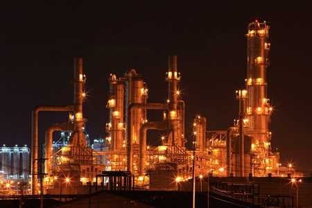 oil refinery: oil refinery factory