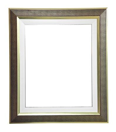marco madera: aislado marco moderno en blanco sobre fondo blanco