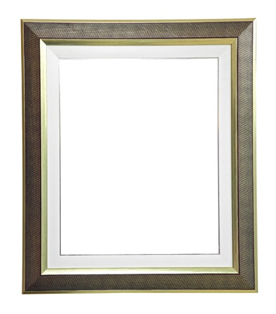 antique frame: isolated blank modern frame on white
