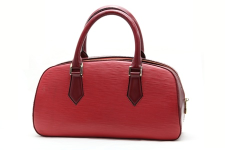 red fake leather woman bag Stock Photo - 8967978